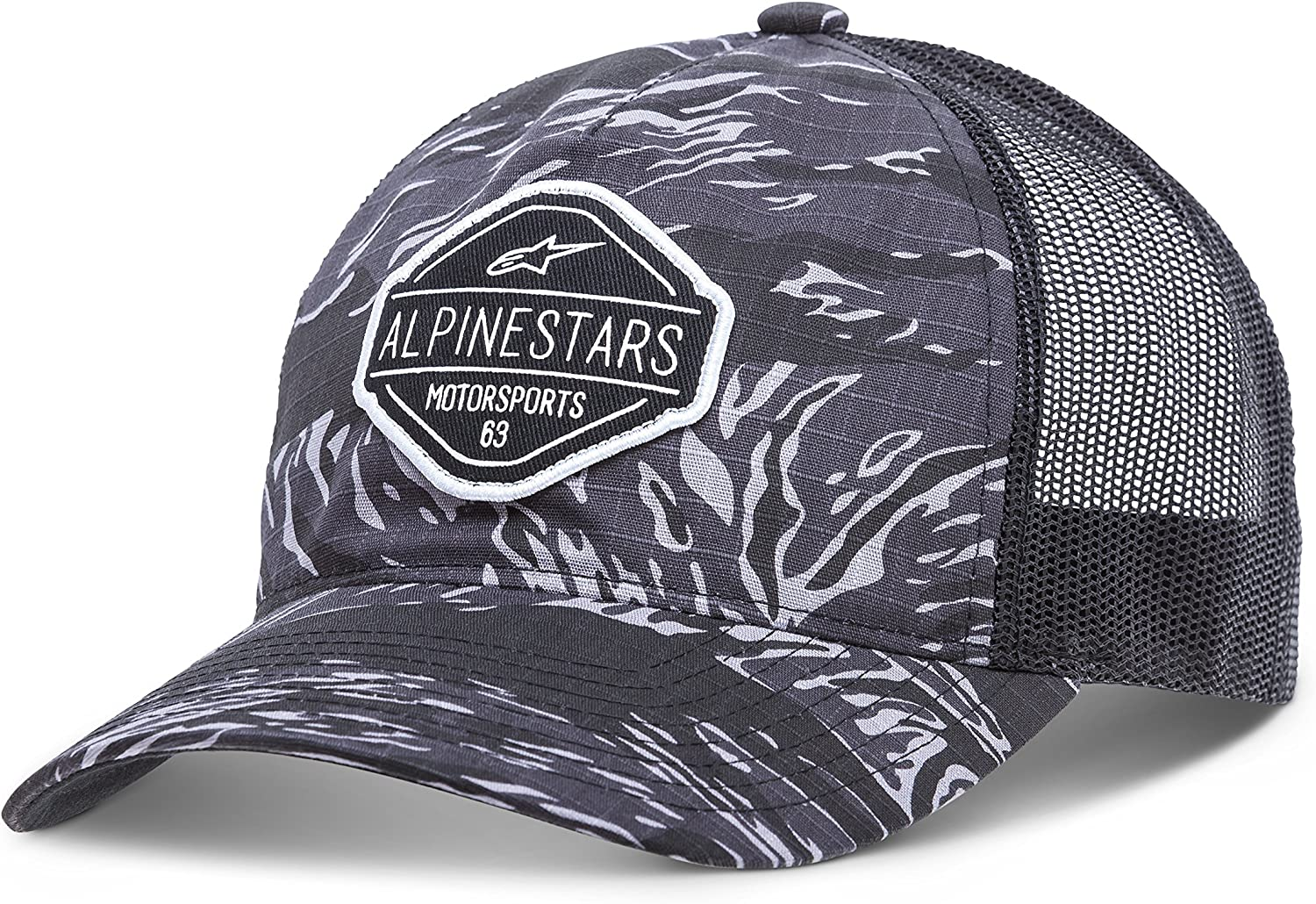 Alpinestars Mens Curved Bill Structured Crown Snap Back Camouflage Flexfit Hat