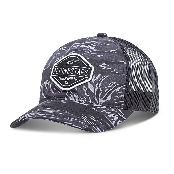 Alpinestars Men s Curved Bill Structured Crown Snap Back Camouflage Flexfit  Hat c13b026a1f9e