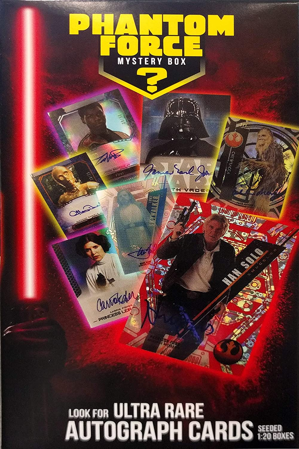 4 Collectible Disc Pack 4 Factory Sealed Pack Look for Ultra Rare Autograph Cards Seeded 1: 20 Boxes Star Wars Cards: Phantom Force Mystery Box Value Box