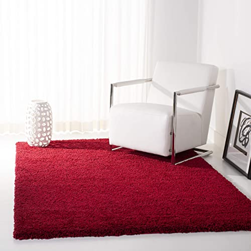 Safavieh California Premium Shag Collection SG151-4040 Area Rug, 8 x 10 , Red