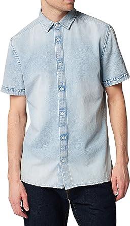 next Hombre Camisa Manga Corta Deshilachada Regular ...