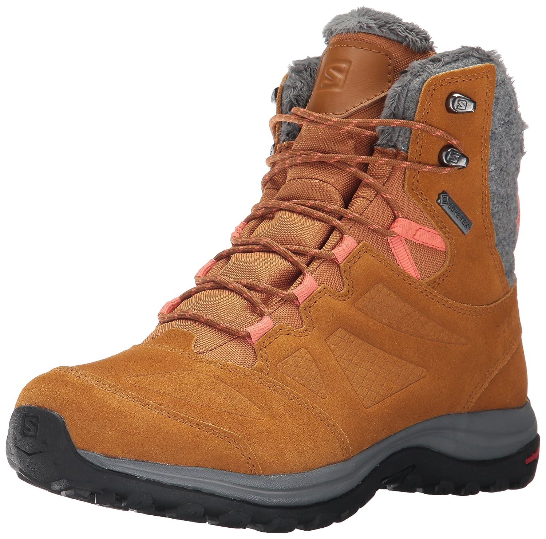 Salomon Women's Ellipse Winter GTX Snow Boot B01MRO4J2W 10 B(M) US|Rawhide Leather/Rawhide Leather/Living Coral