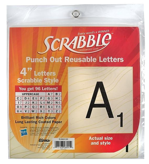 Amazon Eureka Scrabble Letters Deco 96 Letters Office Products