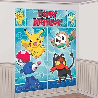 amscan Pokemon Scene Setter Wall Decorating Kit, Birthday: Toys & Games