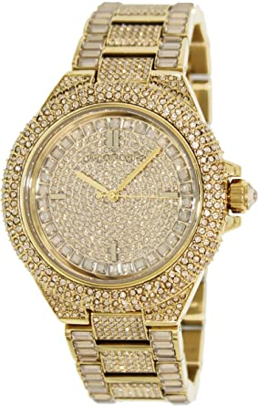 6909beac80e1 Michael Kors Camille Crystal Covered Gold Stainless Steel Ladies Watch  MK5720