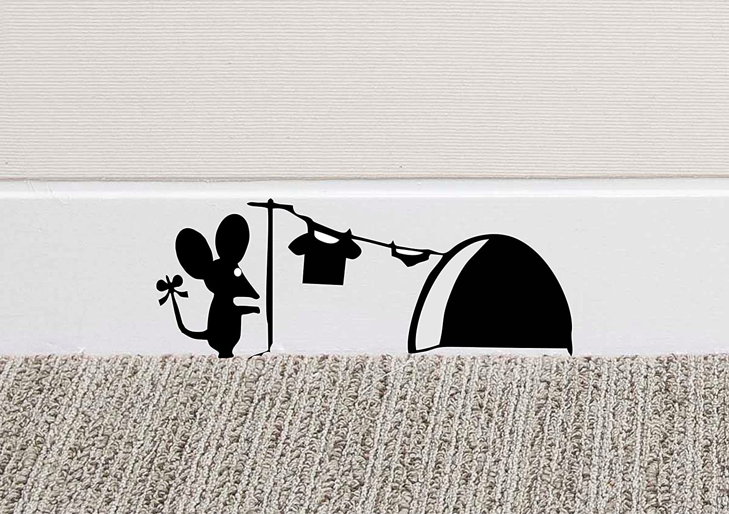 213B Mouse Hole Wall Art Sticker Washing Vinyl Decal Mice Home Skirting Board Funny BC Designs EXPSFD009350