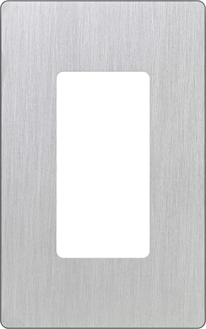 White Lutron Claro 1 Gang Decorator Wallplate