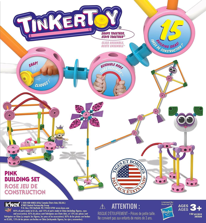 Preschool Educational Toy K/'NEX 56508 150 Pieces Ages 3+ TINKERTOY Pink Building Set