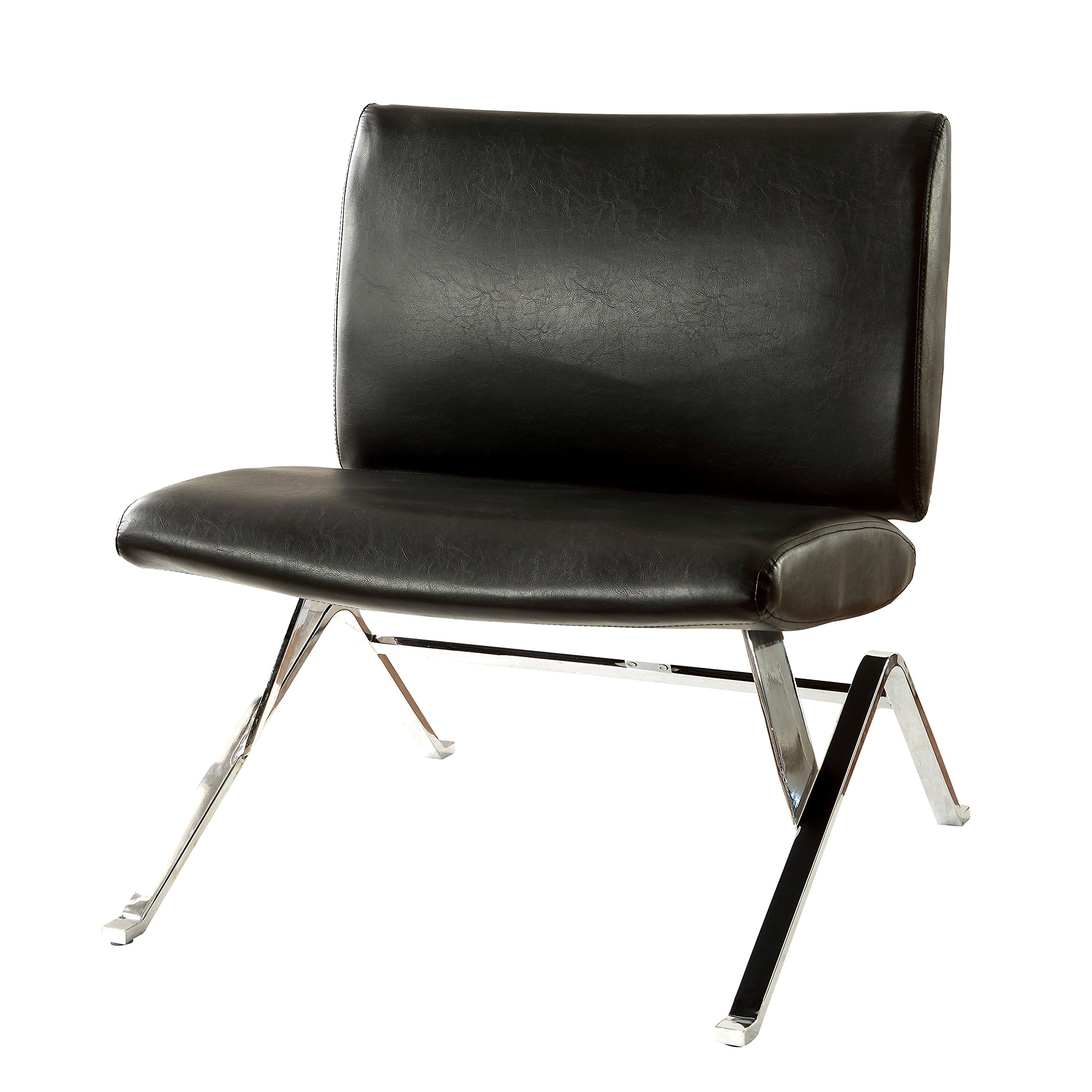 HOMES: Inside + Out IDF-AC4073BK Trelan Contemporary Living Room Chair, Black