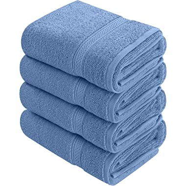 Utopia Towels Cotton Hand Towels, 4 Pack Towels, 600 GSM, Electric Blue