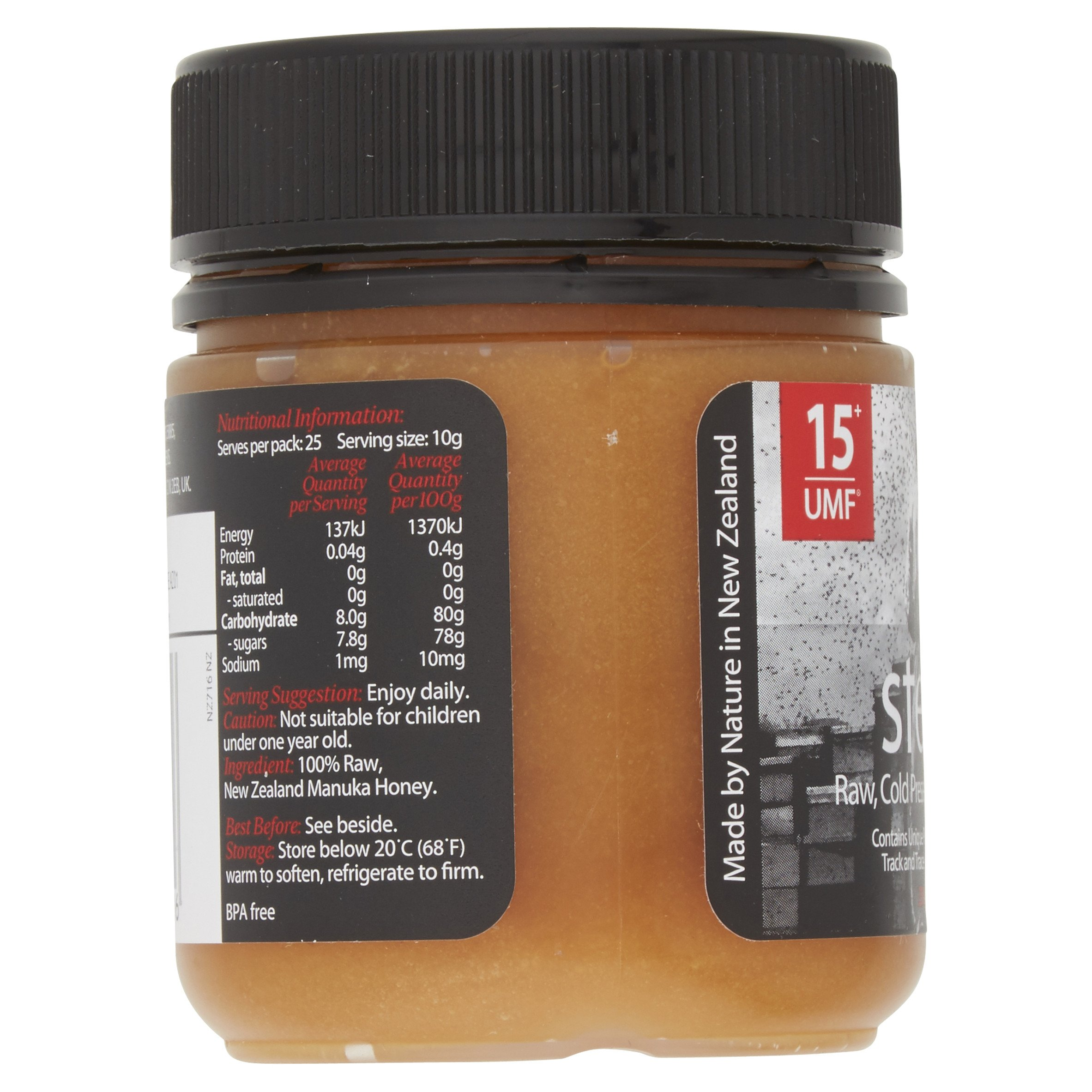 Steens Manuka Honey UMF 15 (MGO 514) 8.8 Ounce jar | Pure Raw Unpasteurized Honey From New Zealand NZ | Traceability Code on Each Label by Steens (Image #3)