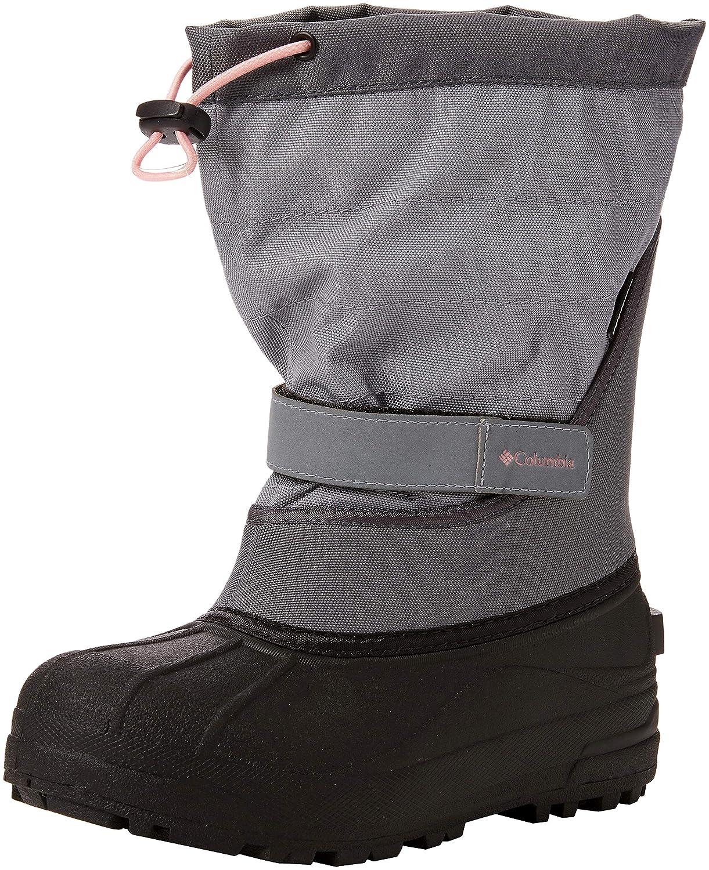 Grey Ash, pinkwater 7 Columbia Kids' Powderbug Plus II Boot, Youth