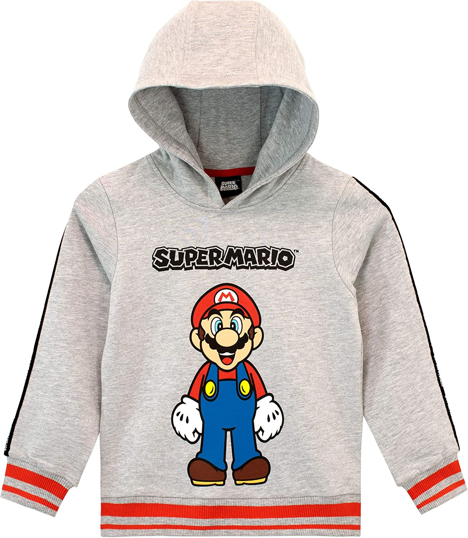 Super Mario Pullover Giacca con Cappuccio per Il Tempo Libero Moda Giacca con Cappuccio per Il Tempo Libero Cartoon Stampato Ragazzi e Ragazze