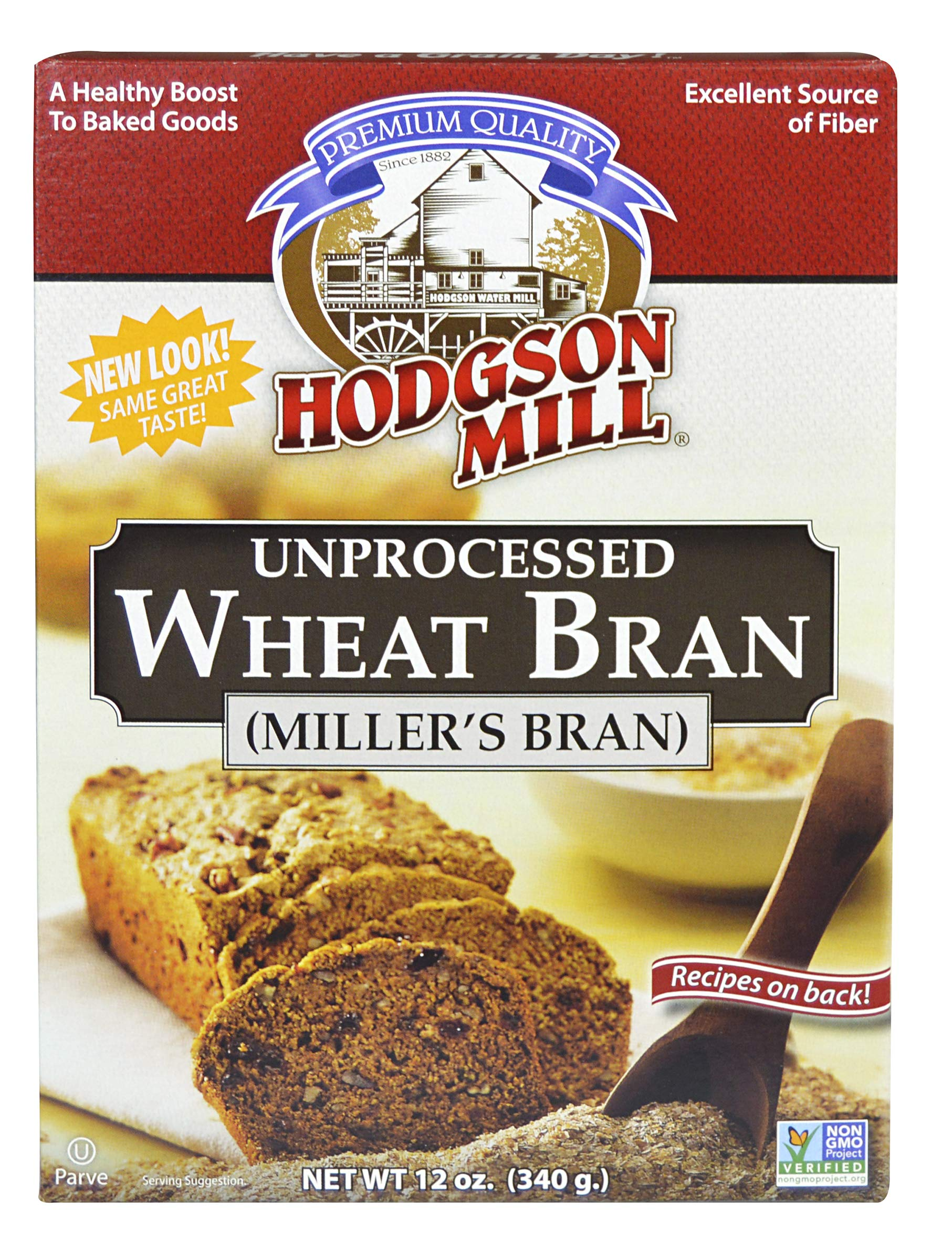 Hodgson Mill Wheat Bran, Unprocessed Millers Bran, 12-Ounce (Pack of 6) by Hodgson Mill (Image #3)
