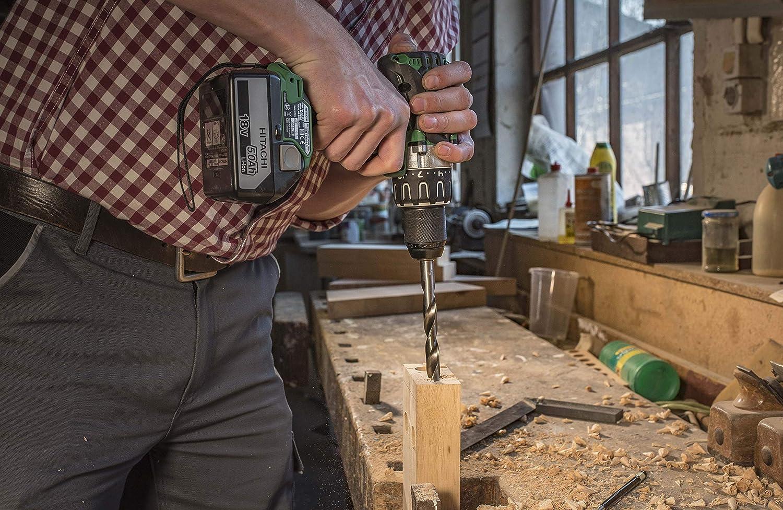 /Ø 3//4//5//6//7//8//9//10//11//12 mm Set of 10 Pieces Heller Tools 287081 0335 Wood Drill Bit of HSS Silver