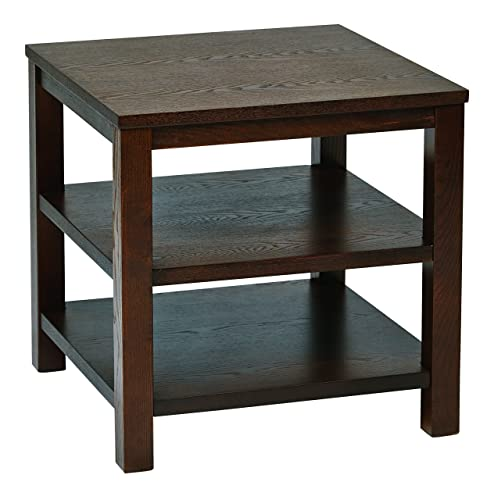 Ave Six AVE SIX OSP Furniture Merge Square End Table, 20 , Espresso
