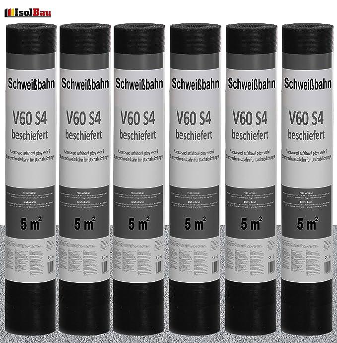 Schwei/ßbahn V60 S4 mit Glasvlieseinlage beschiefert natur grau