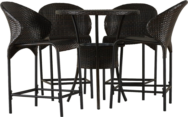 Tufted Chaise Lounge Chair, Amazon Com Dining Set 5 Piece Bistro Set Outdoor Garden Poolside Garden Outdoor