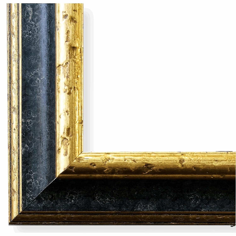 Bilderrahmen Genua Schwarz Gold 4,3 - LR - 60 x 80 cm - 500 ...