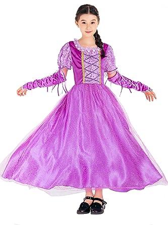 LaLaAreal Traje del Vestido de Princesa infantil Disfraz de Princesa de Niñas para Fiesta Carnaval Cumpleaños