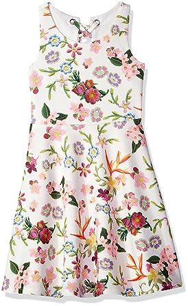 Amazon.com  Bonnie Jean Girls  Sleeveless Knit Print Skater Dress ... 74f1c248a