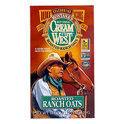 Cream of The West 100% Natural Roasted Ranch Oats Hot Cereal - 12 oz, Single Box: Health & Personal Care