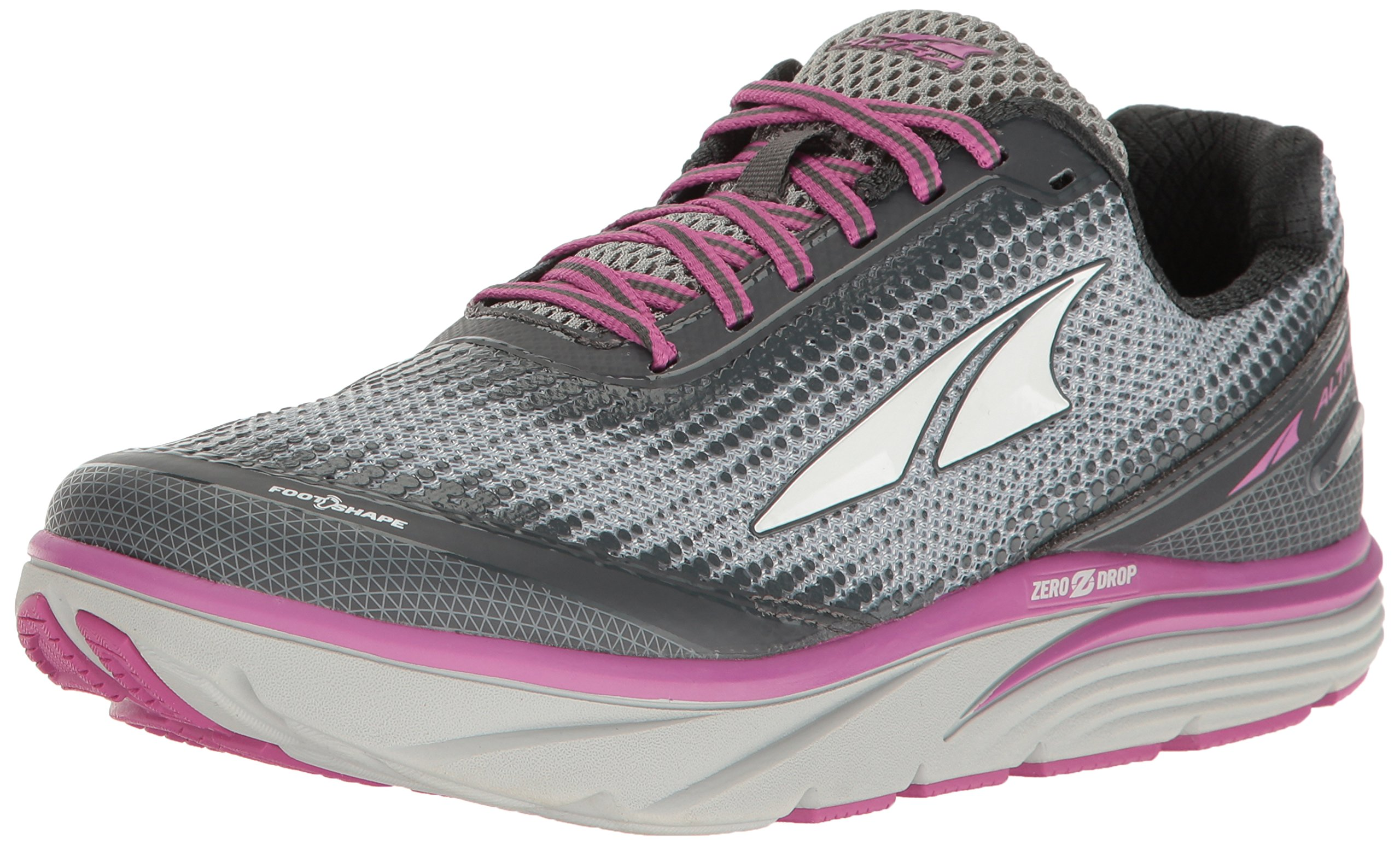 Altra Women's Torin 3 Road Running Shoe, Gray/Pink - 8 B US