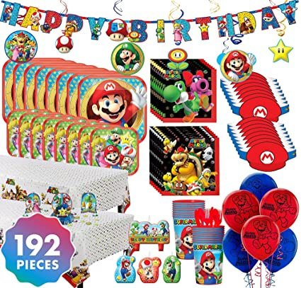 Amazon.com: Party City Super Mario - Kit de fiesta para 16 ...