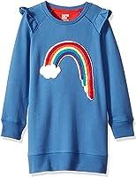 Amazon Brand - Spotted Zebra Girls' Toddler & Kids French Terry Knit Ruffle Raglan Dress
