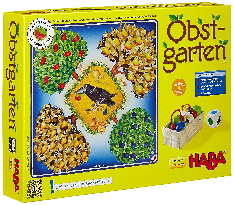Haba 4170 Obstgarten Con Juego De Mesa Con Obstgarten Dados Y