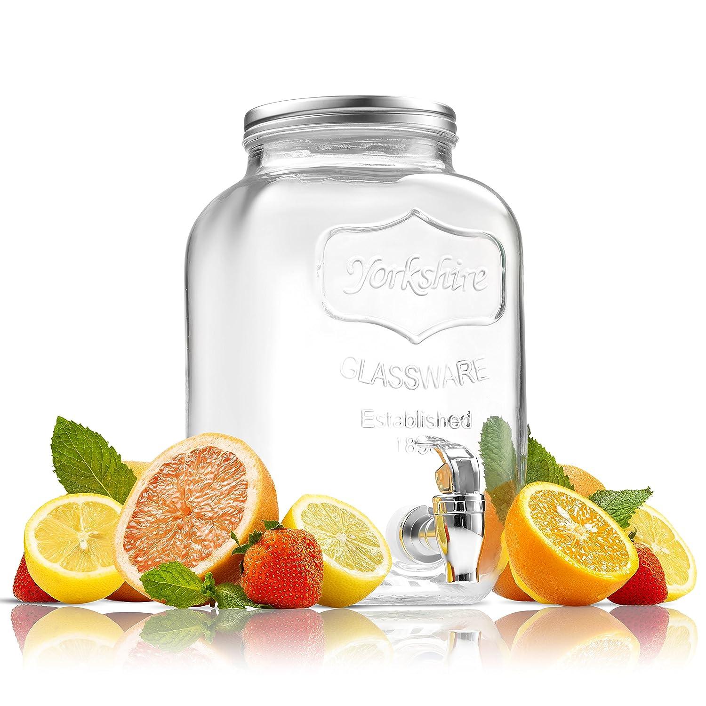 FineDine Glass Beverage Dispenser Mason Jar
