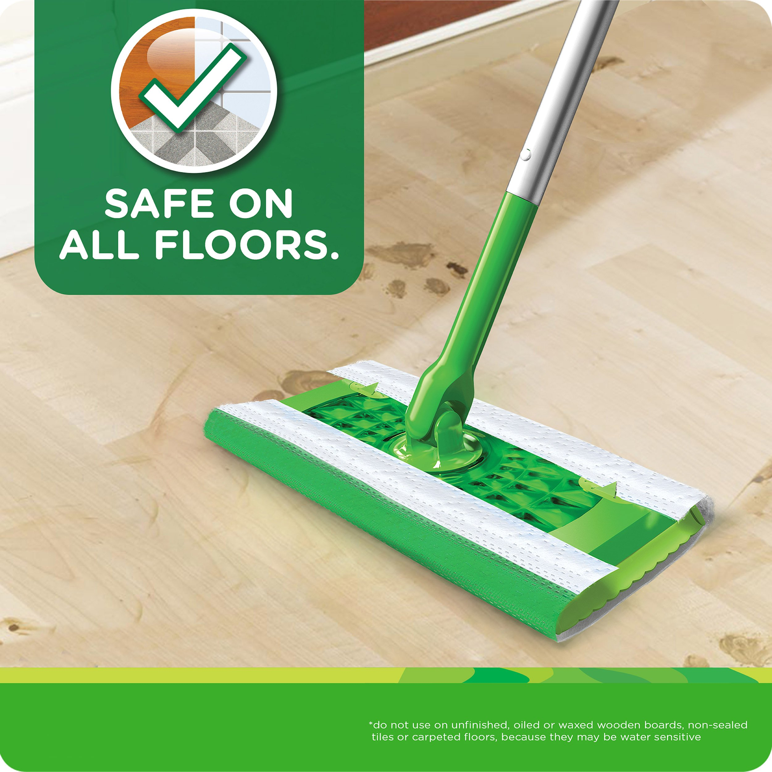 Swiffer Sweeper Wet Mop Refills for Floor Mopping and Cleaning, All Purpose Floor Cleaning Product, Lavender Vanilla and Comfort Scent, 36 Count by Swiffer (Image #4)