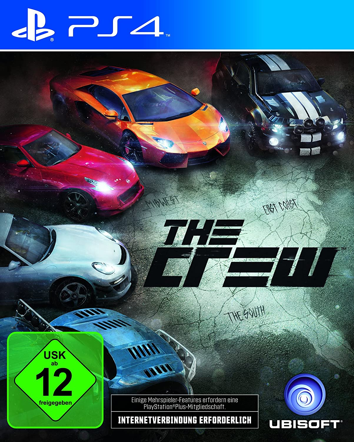 the crew sony playstation 4 ps4 spiel 3307215748893 ebay. Black Bedroom Furniture Sets. Home Design Ideas
