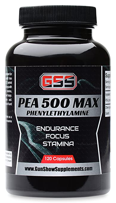 PEA (Phenylethylamine) 120 Capsules! CNS Stimulant! Great for Pre-workout or Anytime for Extra Energy