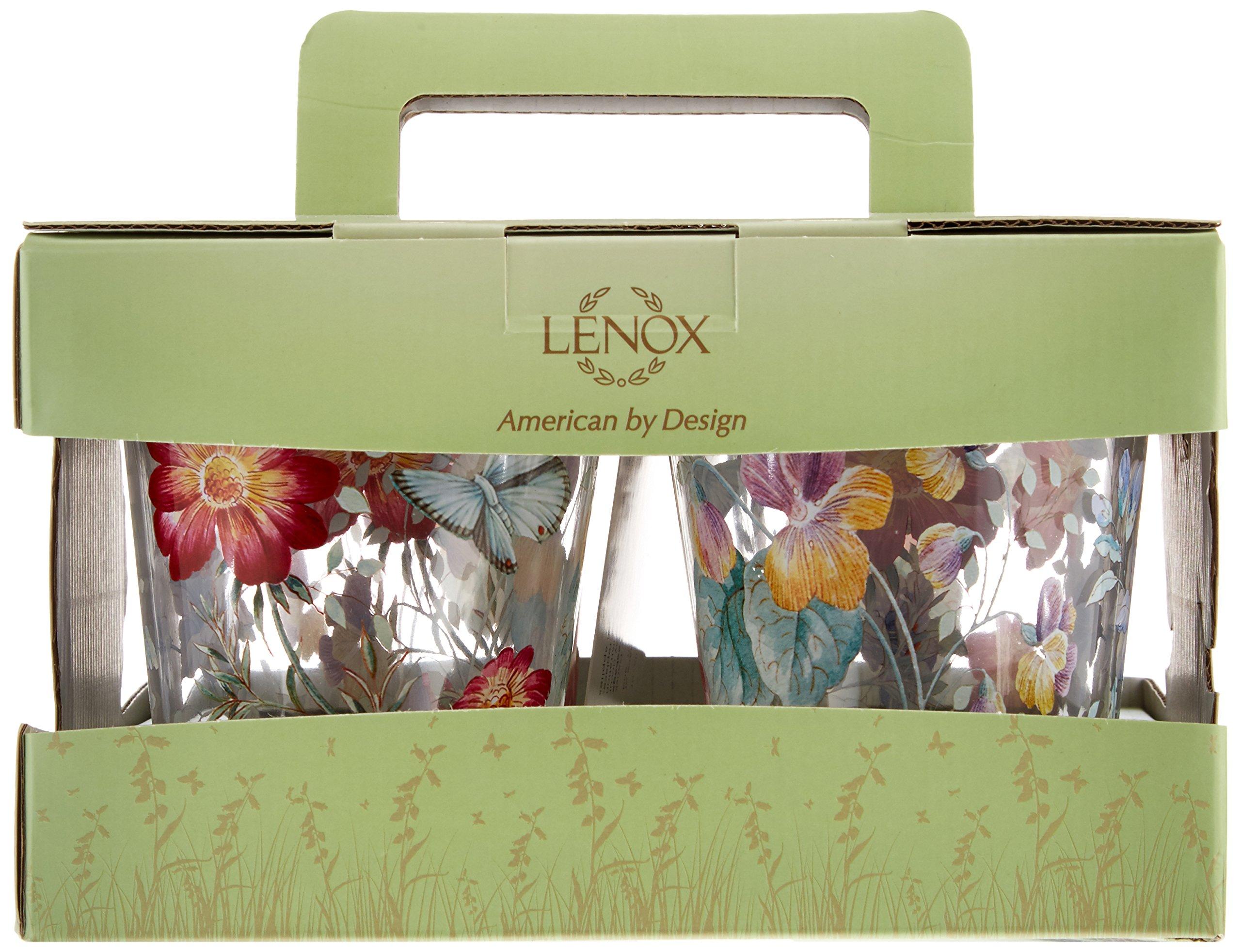 Lenox Butterfly Meadow Melamine 4pc Highball, 1.4 LB, Multi