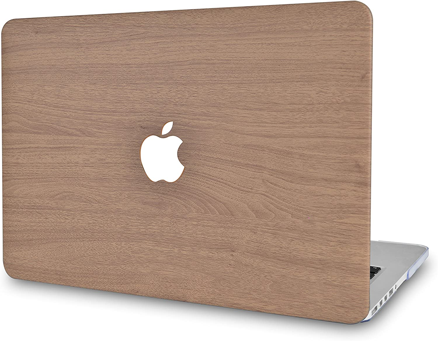 LuvCase Laptop Case for MacBook Air 13 Inch A1466 / A1369 (No Touch ID) Leather Hard Shell Cover (Brown Wood)