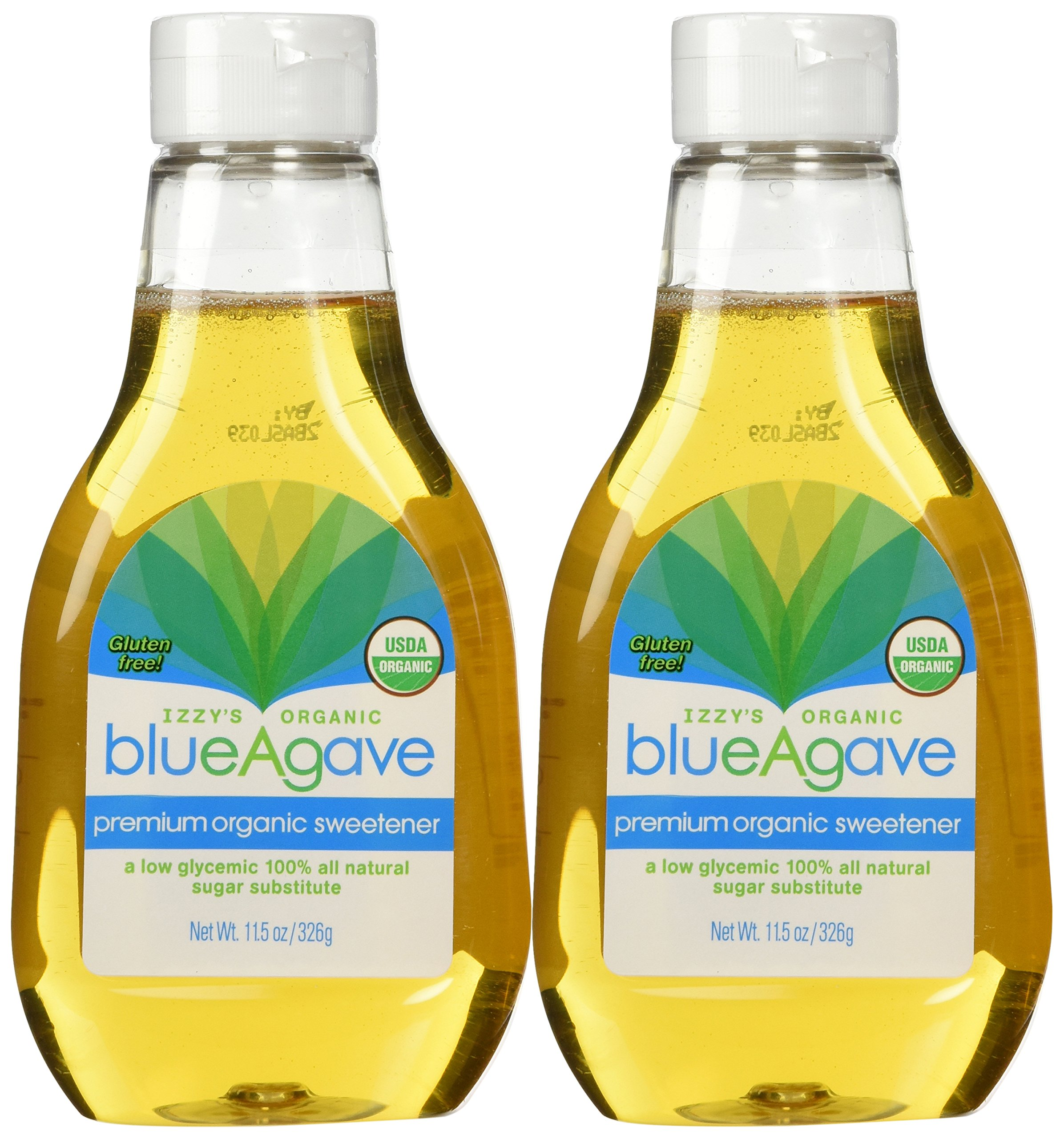 Izzy's Organic Blue Agave Sweetener, 11.5-ounce Bottles [Pack of 2]