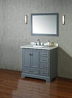 Stufurhome HD 7130G 36 CR Newport Single Sink Bathroom Vanity Set, 36