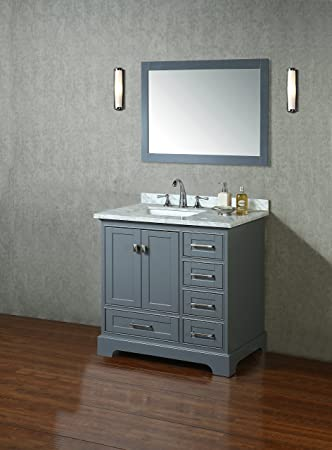 Stufurhome HD 7130G 36 CR Newport Single Sink Bathroom Vanity Set, 36u0026quot