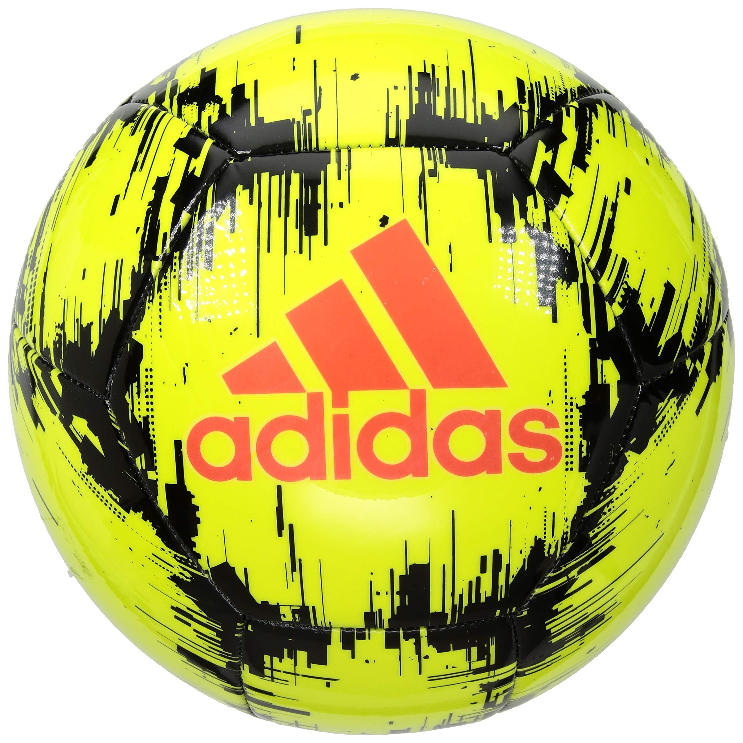 adidas Performance Ace Glider II Soccer Ball, Solar Yellow/Black/Solar Red, Size 3