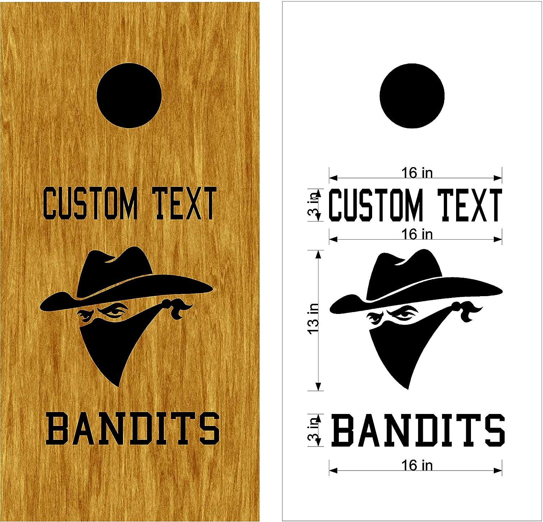 Bandits Mascot スポーツチーム コーンホールボード デカールステッカー 両方のボードに十分な大きさ。 B07HNQHTHN