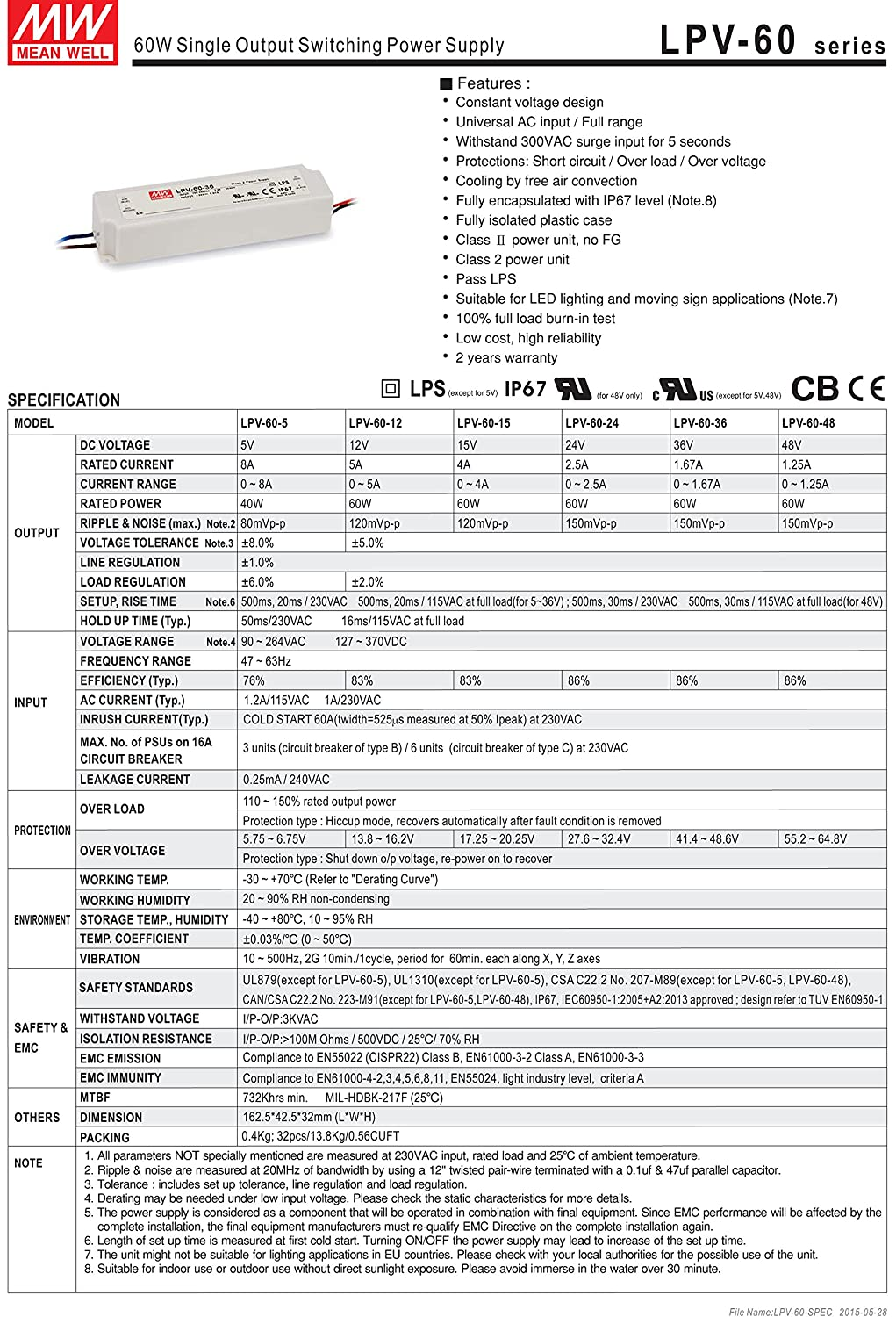 Meanwell Ul 24v 60w Approved Outdoor Waterproof Led Drive Dc12v To Dc28v Converter With Lm2585 Transformer Adapter 120 24 Volt Dc Output 2 Years Warranty By Ledjump Patio