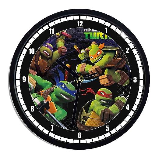 Reloj de pared de plástico Tortugas Ninja: Amazon.es: Hogar