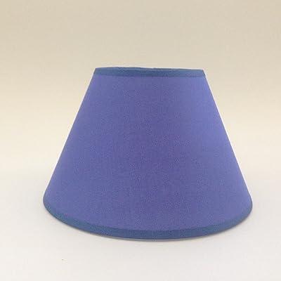 20,3cm Bleu Tissu de coton Abat-jour Abat-jour lampe de table fait à la main.