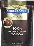 Ghirardelli 100 Percent Unsweetened Premium Baking Cocoa, 8 Ounce - 6 per case.
