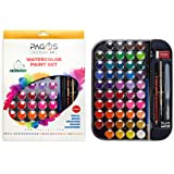 Pagos 48 Colors Watercolor Paint Set – with Brush, Pencil, Refillable Brush, Palette - 48 Colours Portable Painting Kit…