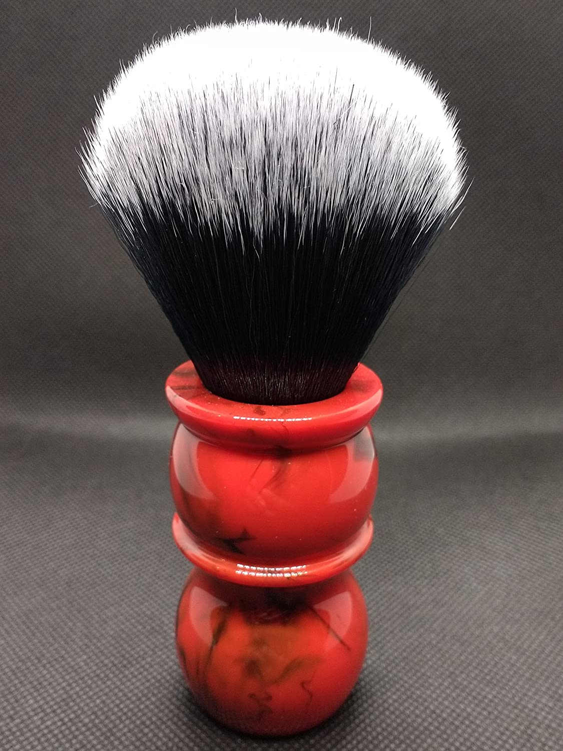 Yaqi 24 mm rosso marmo pennello da barba Tuxedo Brush Shave R1735 – 24