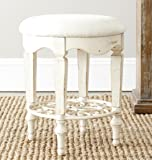 Safavieh American Home Collection Roanne Classic White Vanity Stool