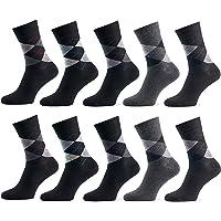 Mat And Vic's Chausettes, Confortables, Respirantes, OEKO-TEX 100-35 36 37 38 39 40 41 42 43 44 45 46 (Lot de 5 ou 10 paires)