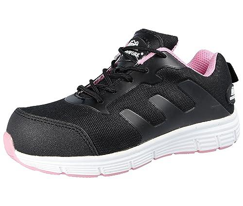 Groundwork Gr95 - Zapatillas de seguridad Unisex adulto, Black/black, 37 1/3